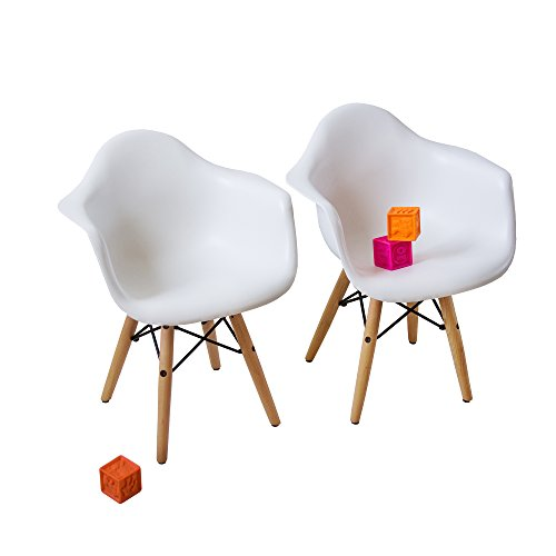 Image Result For Buschman Set Of Two White Eames Style Mid Century Modern