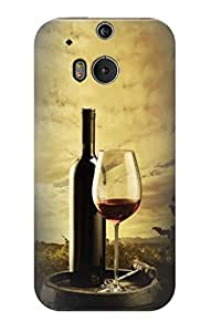 S2042 A Grape Vineyard Grapes Bottle and Glass of Red Wine Case Cover For HTC ONE M8 by ruishername