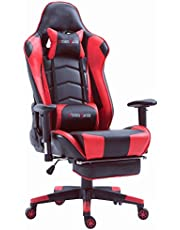 Storm Racer Ergonomic Gaming Chair High back Swivel Computer Office Chair with Footrest Adjusting Headrest and Lumbar Support Racing Chair