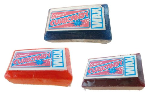 SHORTY'S CURB CANDY SKATEBOARD WAX Skateboards CURB WAX - 3 PIECES - ASSORTED by Shorty's (Image #1)