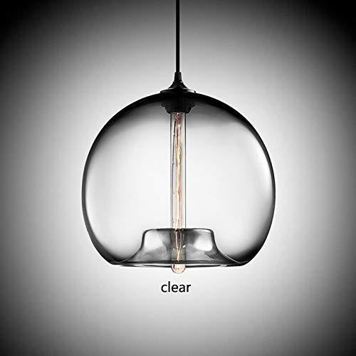 6 Farben Glaskugel Deckenleuchte Haushalt Anhänger Kronleuchter Leuchten, Klar