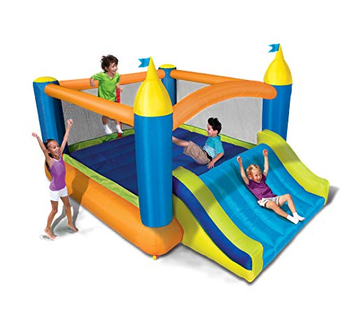 BANZAI Fun 2 in 1 Combo Pack Splash Blast Lagoon and Super Slide 'N Bouncer
