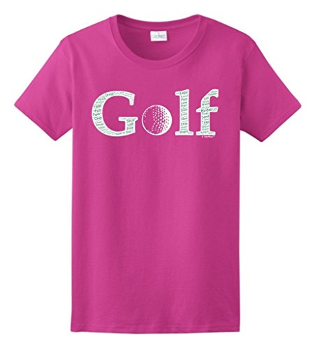 Ladies Golf Apparel Accessories - ThisWear Golf Accessories Golf Word Collage Golfer Golfing Gift Ladies T-Shirt 2XL Hlcna
