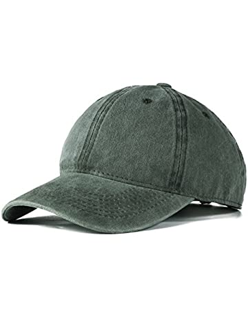 927723c0924 Edoneery Men Women Cotton Adjustable Washed Twill Low Profile Plain  Baseball Cap Hat(Black)