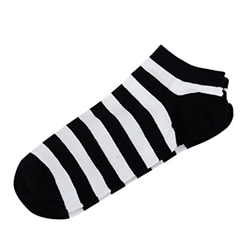 Lamolory Cotton No Show Sock - deodorant Sock Non Slip Hidden Flat Line colorful (B, Large)