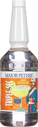 Major Peters, MIXER MAJOR PETERS TRIPLE SEC.PLA 33.8 oz. (12 count)