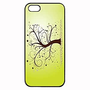 iPhone 5 5S Case - Curly Tree Patterned Protective Skin Hard Case Cover for Apple iPhone 5 / 5S - Haxlly Designs Case