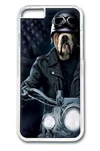 Biker Sam Bulldog PC Case Cover for iPhone 6 and iphone 6 4.7 inch Transparent