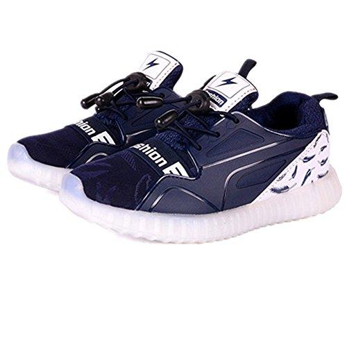 Jedi fight back Multi-Color LED Light Up Shoes with USB Charging for Little Kid/Big Kid?Navy Blue 13 M US Little Kid?