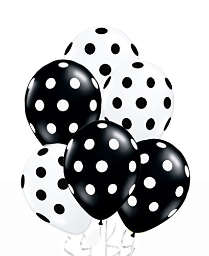 Assorted Black White Polka Balloons product image