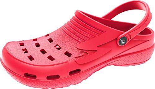 BOCKSTIEGEL® JANA Mulas para Mujer (Tamaños 37-41 Zuecos Sandalia Piscina Playa) Red