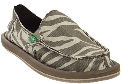 Sanuk Women's I'm Game Flat, Zebra Natural,5 M US for sale  Delivered anywhere in USA