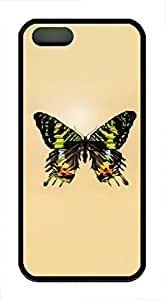 iPhone 5 5S Case Butterfly10 TPU Custom iPhone 5 5S Case Cover Black