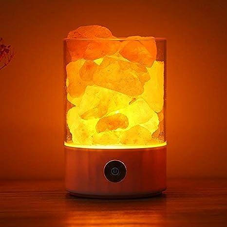 Amazon|ヒマラヤ岩塩ランプ LEDソルトランプ 100%天然ピンクソルト ...