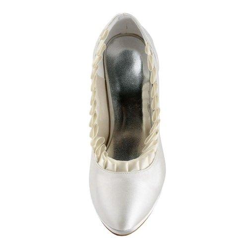JIA JIA Wedding 3703H chaussures de mariée mariage Escarpins pour femme Beige Y6vCm