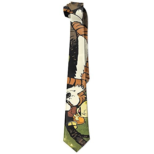 Hobbes Costumes (Mens Calvin And Hobbes Sleeping Leisure Wide Tie Necktie Costume Accessory Fashion Design)