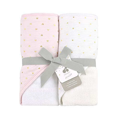 Just Born Sparkle 2pk Hooded Towel Set, Pink ()