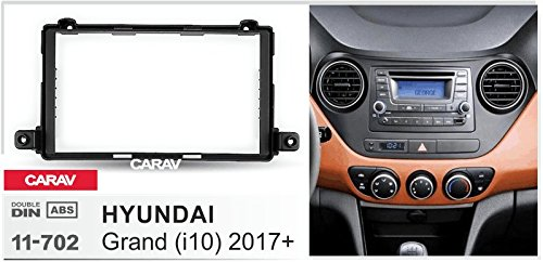 Double Din In Dash Car Stereo Installation Kit Car Radio Stereo CD Player Dash Install Kit Compatible HYUNDAI i-10 Grand 217+ with 17398mm