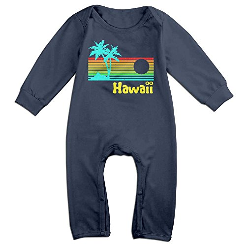 Hawaii- Long Sleeve Outfits Jumpsuit For 0-24 Months Navy 18 - Ups International Class First