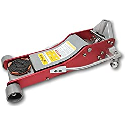 Liftmaster 3 Ton Aluminum and Steel Low Profile High Lift Floor Jack (Red)…