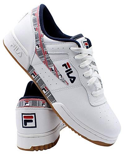 Fila Mens Original Fitness Haze Sneaker, Adult, White/Navy/Red, 10.5 M US