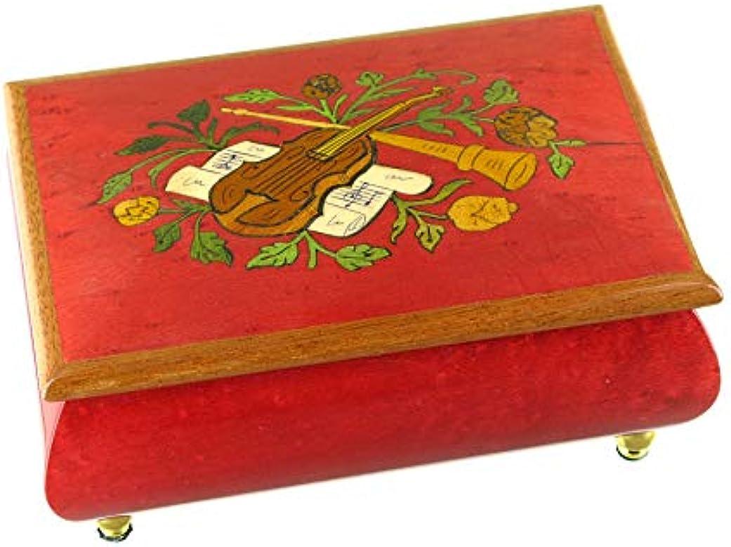 Caja de música para joyas/Joyero musical de madera tintada con ...