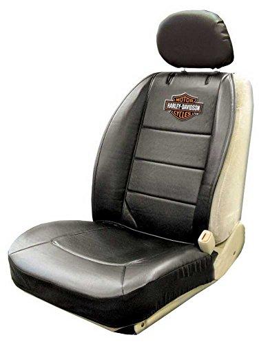 Harley Seat Covers - Harley-Davidson Seat Cover Black, Bar & Shield Logo Sideless - Single P8589