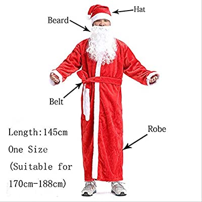CHHGS Santa ClausRusia Navidad Santa Claus Traje Cosplay ...