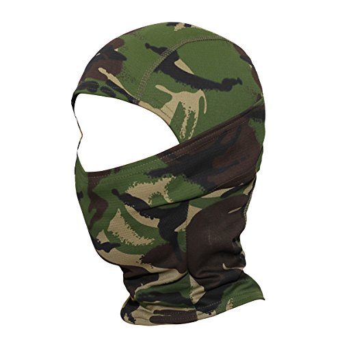 JIUSY Camouflage Balaclava Hood Ninja Outdoor Cycling Motorcycle Hunting Military Tactical Helmet liner Gear Full Face Mask SP-06 Camouflage Balaclava