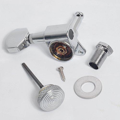 1set Guitar Tuning Pegs Tuner Machine Heads with Lock (3L3R) Chrome Locking Tuning Keys
