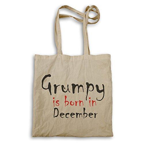 Grumpy ist im Dezember geboren Tragetasche c226r