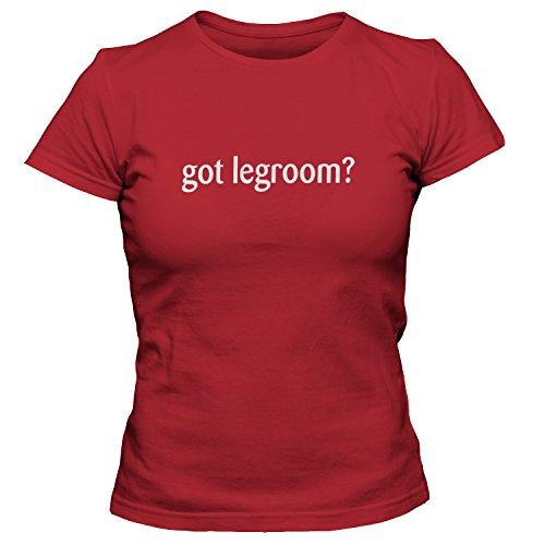 shirtloco Women's Got Legroom T-Shirt, True Red ()