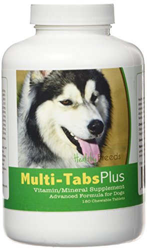(Healthy Breeds Dog Daily Vitamin and Mineral Supplement Chewable Tabs for Siberian Husky - Over 80 Breeds – 180, 365 Chews – Formula for Young or Senior Pets – Easier Than Liquid, Powder)