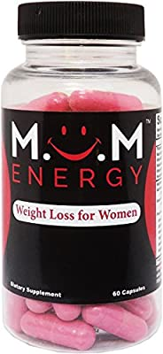 MOM ENERGY Weight Loss Energy Pills for Women 60 Capsules - Best Diet Pills That Work Fast For Women - Burn Belly Fat