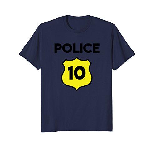 Police Costume 10th Birthday Tee Shirt Tenth Ten 10 Year Old ()