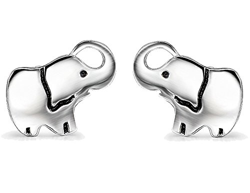 Earrings Elephant Pierced - YFN Elephant Pendant Necklace Stud Earrings Sterling Silver Ear Studs for Women Girls