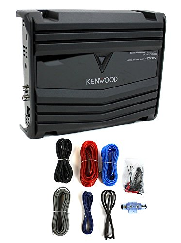 Kenwood KAC-5206 400W 2-Channel Class AB Car Audio Amplifier + 8 Gauge Amp Kit (Kenwood 2000w Amp)