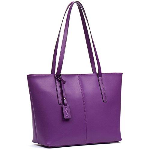 Leather Like Designer Tote Bag - NAWO Women's Leather Designer Handbags Shoulder Tote Top-handle Bag Clutch Purse Gray