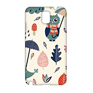 Evil-Store Cartoon umbrella owl and dove 3D Phone Case for Samsung Galaxy Note3