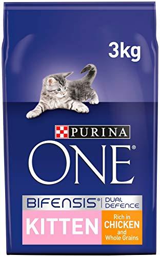 Purina ONE Kitten Cat Food Chicken & Wholegrain, Transparent, Chicken, 3kg