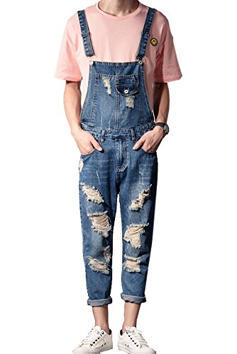 Sokotoo Length Pocket Ripped Jumpsuits product image