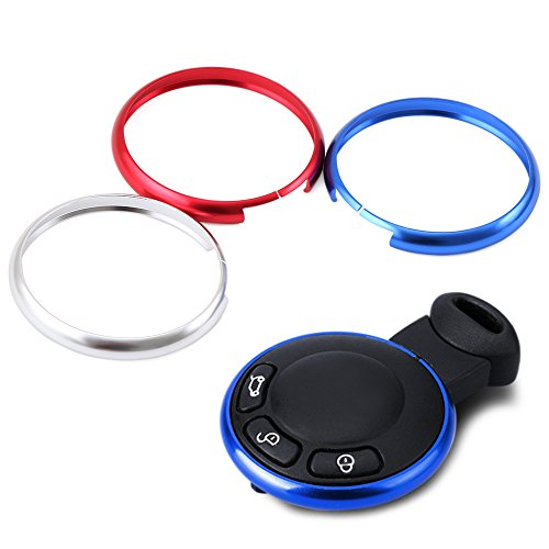 AndyGo Aluminum Smart Key Fob Ring Rim Trim Cover Direct Replacement Fit For Mini Cooper