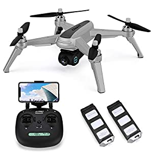 40mins(20+20) Long Flight Time Drone for Adults,JJRC X5 Drone with 2K FHD Camera Live Video, 5G WiFi FPV GPS Return Home Quadcopter with Brushless Motor, Follow Me, Long Control Range (Gray) 41Dwzmk2tkL