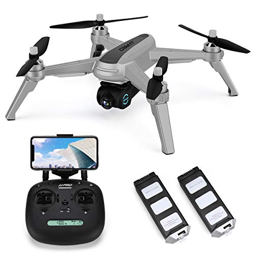 JJRC X5 FPV Drone with 1080P HD 90° Adjustable Camera Live Video, GPS Return Home Quadcopter with Brushless Motor,36mins(18+18) Long Flight Time Drone for Adults, Follow Me, Long Control Range (Gray)