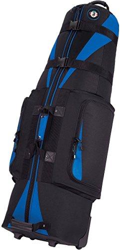 Golf Travel Bags Unisex Caravan 3.0 Bag, Black with Blue Trim