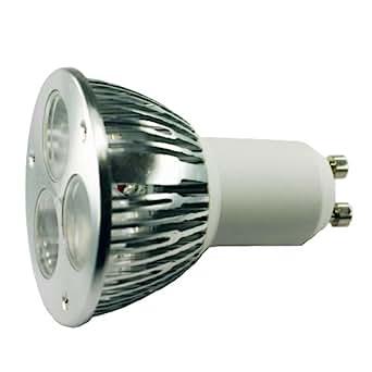 led light bulb pack of 2 gu10 base 3 watt white 45 degree beam angle recess flood track. Black Bedroom Furniture Sets. Home Design Ideas