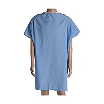 bhmedwear congenial 3 x l - Hospital albornoz 100% algodón apertura trasera: Amazon.es: Amazon.es