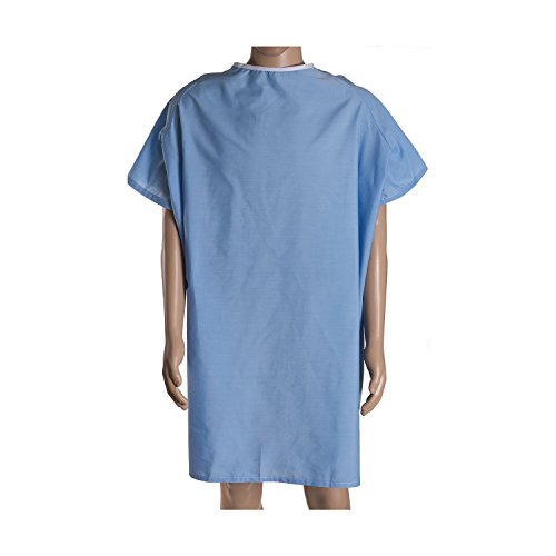 BHmedwear Congenial 3XL - 100% Cotton Hospital Gown - Back Opening (Hyperbaric Gown)