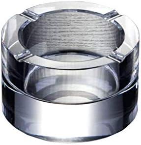 灰皿 , ラウンドクリスタル灰皿クリエイティブホームガラス灰皿ヨーロッパスタイルのリビングルーム灰皿 (色 : Silver)