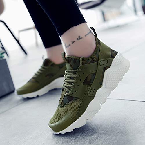A Pareja Green Transpirable Lovdram Zapatos Tamaño La Correr Army Grande Bajo Ayudar Para Casuales De Luz Moda Hombre wzwFTqt